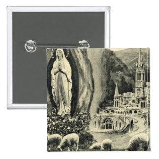 Replica Vintage image Lourdes 1895 Pilgrimage Button