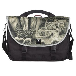Replica Vintage image Lourdes, 1895 Pilgrimage Laptop Bags