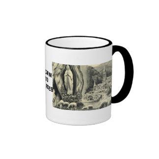 Replica Vintage image Lourdes, 1895 Pilgrimage Ringer Mug