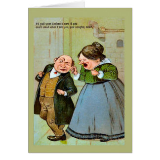 Replica Vintage image,Naughty boy 1 Greeting Card