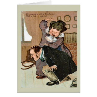 Replica Vintage image,Naughty boy Greeting Card