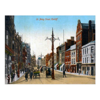 Replica Vintage Image, St Mary Street Postcard