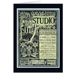 Replica Vintage image, The Studio, magazine cover Card