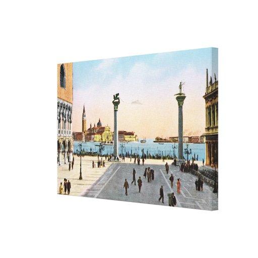 Replica VIntage Image, Venice 1910 Canvas Print