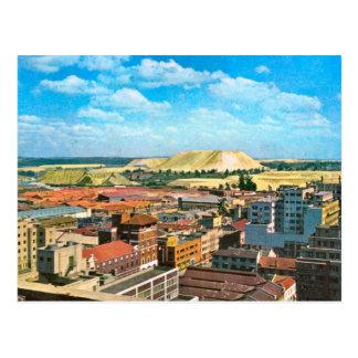 Replica  Vintage Johannesburg, Gold mines Postcard