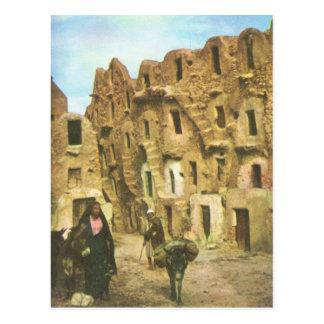 Replica  Vintage Mud brick building, Medenine, Tun Postcard