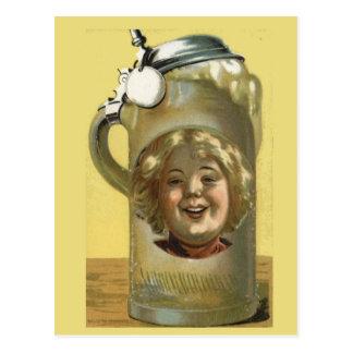 Replica Vintage postcard Good head on the beer
