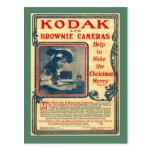 Replica Vintage postcard, Kodak Brownie Cameras