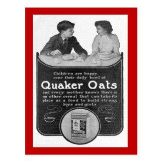 Replica Vintage postcard, Quaker Oats Postcard