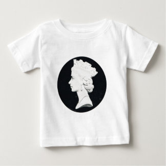 Replica Vintage postcard, Queen Elizabeth II Baby T-Shirt