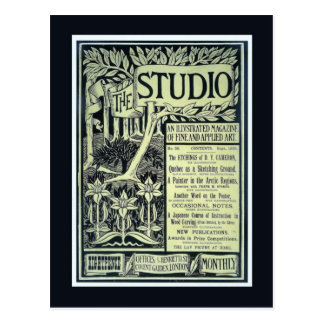 Replica Vintage postcard, The Studio, cover
