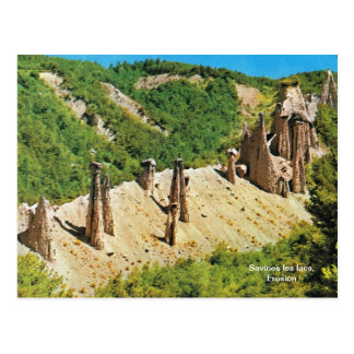 Replica vintage, Savines les lacs, Erosion Postcard