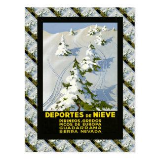 Replica Vintage Ski Poster, Picos de Europa Postcard