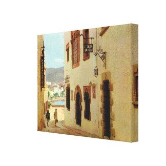 Replica Vintage Spain,  Sitges Old City Canvas Print