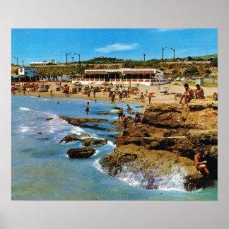 Replica Vintage Spain, Tarragona, Costa Dorada, Poster