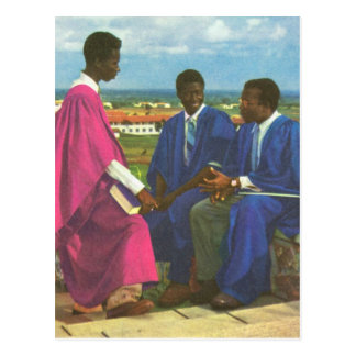 Replica  Vintage University students, Accra, Ghana Postcard
