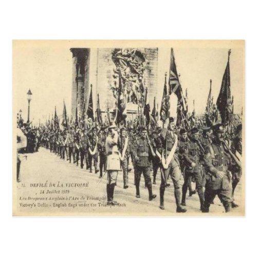 Replica Vintage Victory parade Paris 14 July 1919 Postcard
