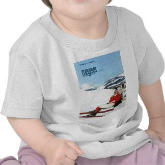 Replica Vintage winter sports ski poster T-shirts