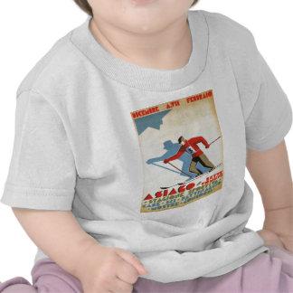 Replica Vintage winter sports ski poster Tshirts