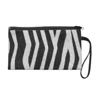 Replica Zebra Fur Wristlet Purse