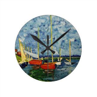 """""""Replicanna Monnett"""" Artwork by Carter L. Shepard"""" Round Clock"""