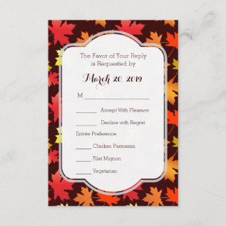 Reply Cards Colors of Autumn Wedding