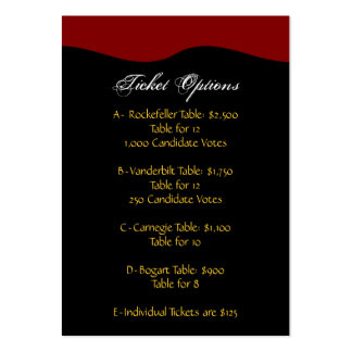 Reply Cards - Pearland Custom Order Large Business Card