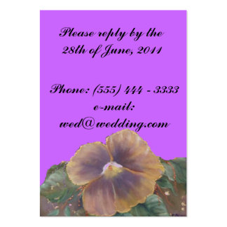 REPLY enclosure card. Large Business Card