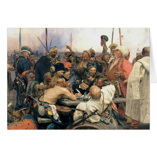 Reply of the Zaporozhian Cossacks Card