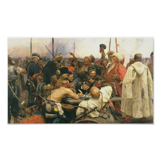 Reply of the Zaporozhian Cossacks ... - Customized Poster