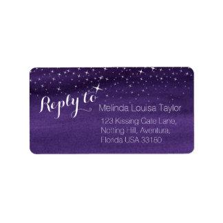 Reply starry night sky wedding address labels