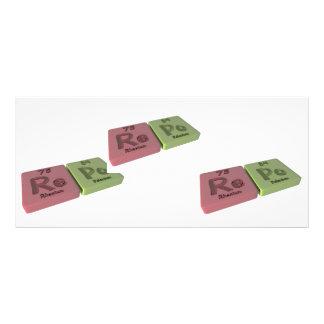 Repo as Re Rhenium and Po Polonium Rack Card