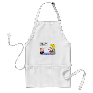 report card garbled transmission adult apron