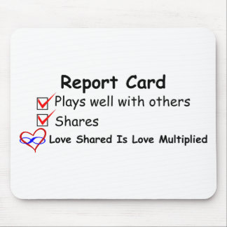 Report Card Mouse Pad