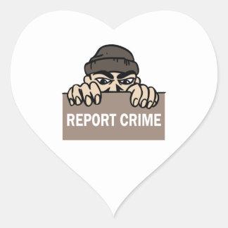 REPORT CRIME HEART STICKER