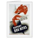 Report Dog Bites 1941 WPA Card