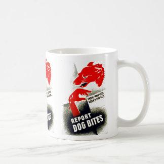 Report Dog Bites Classic White Coffee Mug