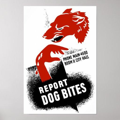 Report Dog Bites -- WPA Poster