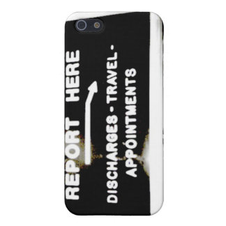 Report Here Coffee Shop Sign iPhone 5 Case