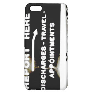 Report Here Coffee Shop Sign iPhone 5C Covers