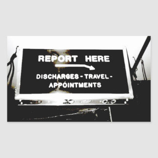 Report Here Coffee Shop Sign Sticker