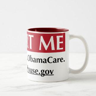 Report Me - I disagree with ObamaCare Two-Tone Coffee Mug