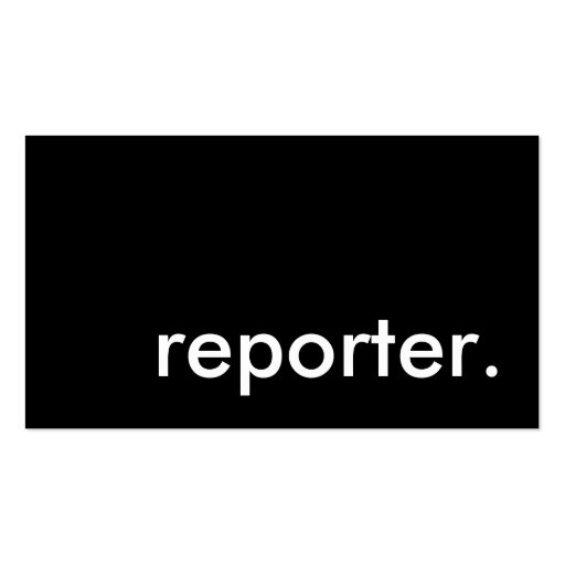 reporter. business card template