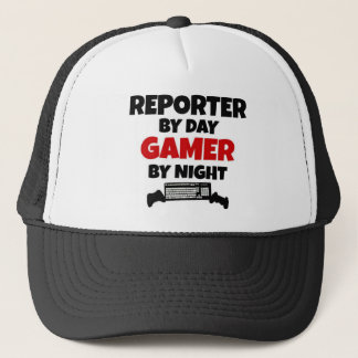 Reporter by Day Gamer by Night Trucker Hat