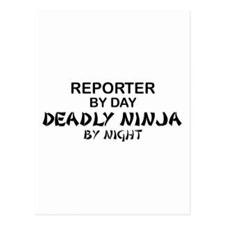 Reporter Deadly Ninja by Night Postcard