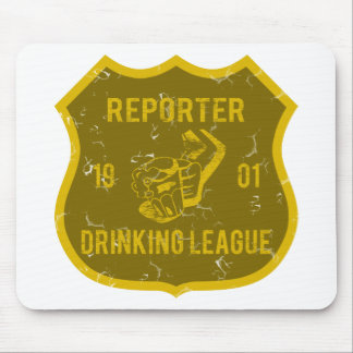Reporter Drinking League Mouse Pad