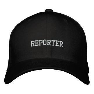REPORTER EMBROIDERED BASEBALL HAT