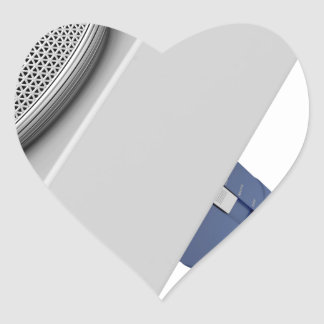 Reporter microphone heart sticker