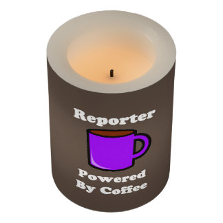 """""""Reporter"""" Powered by Coffee Flameless Candle"""