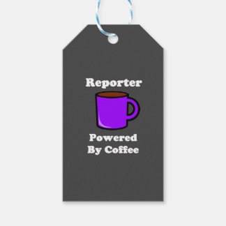 """""""Reporter"""" Powered by Coffee Gift Tags"""